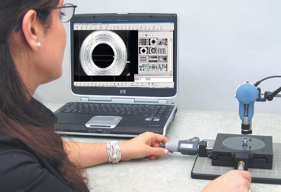 Бесконтактные измерения спомощью видеомикроскопа Flexia