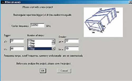 Задание параметров инструмента Taper assistant