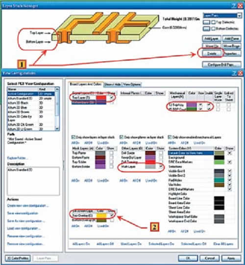 Настройка отображаемых слоев в библиотеке
