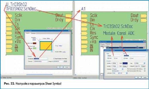 Настройка параметров Sheet Symbol