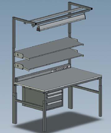 Стол серии TPН с аксессуарами