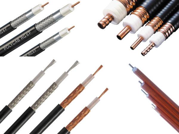 Различные виды коаксиальных кабелей