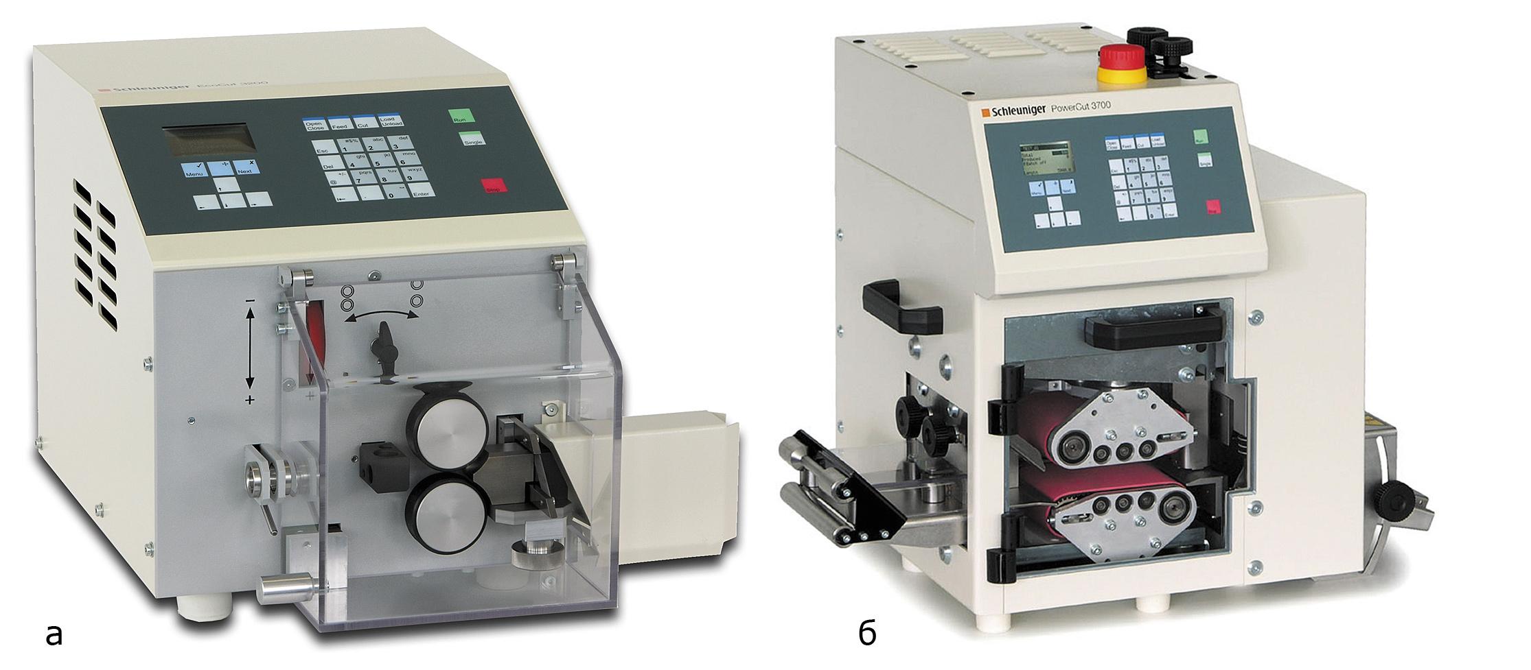 Машины мерной нарезки: Schleuniger EcoCut3200; PowerCut3700