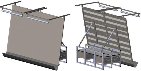 Жгутовый стол с металлической столешницей