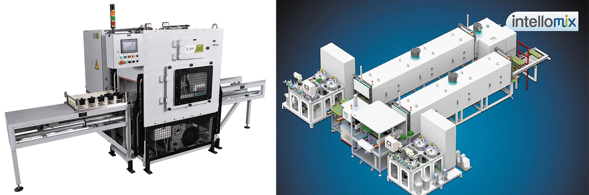 Автомат для вакуумной заливки и полностью автоматическая конвейерная линия серии Intellomix