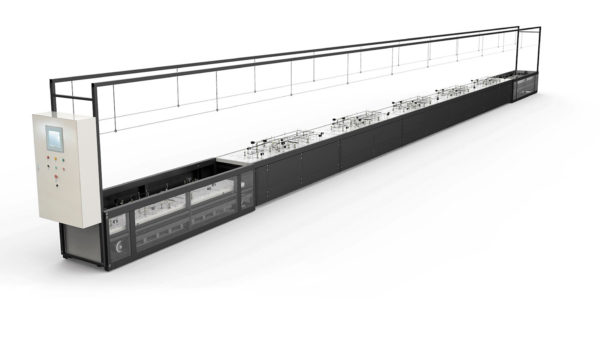 Автоматическая линия сборки жгутов с подъемными плазами от компании Schleuniger