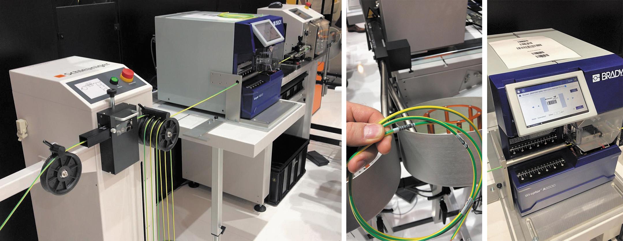 Встроенная маркировка кабелей на основе установки Brady Wraptor A6500