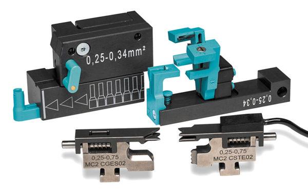 Дополнительная оснастка машины МС 25 для оконцевания провода с поперечным сечением 0,25 и 0,35 мм2