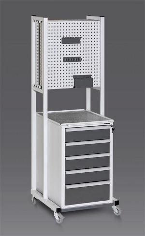 Новые подкатные стойки— расширение в ряду мобильной промышленной мебели Viking